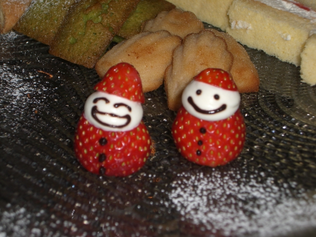 Santa & Mrs. Claus strawberry desserts