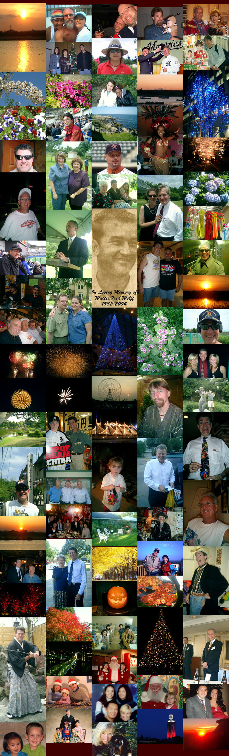 Gary Wolff's 2004 photo collage