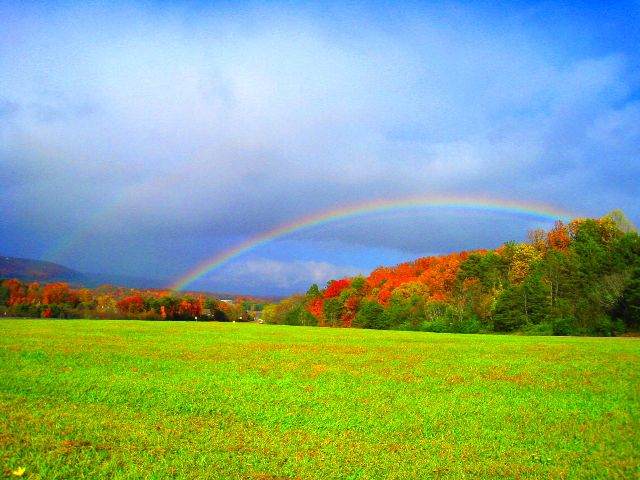 Double rainbow near Soddy-Daisy, Tennessee